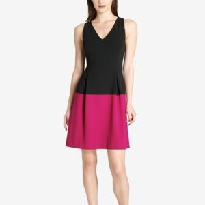 Tommy Hilfiger Colorblock Scuba Crepe Dress